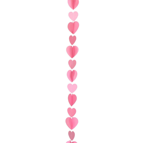 Pink Heart Balloon Tails 1.2m